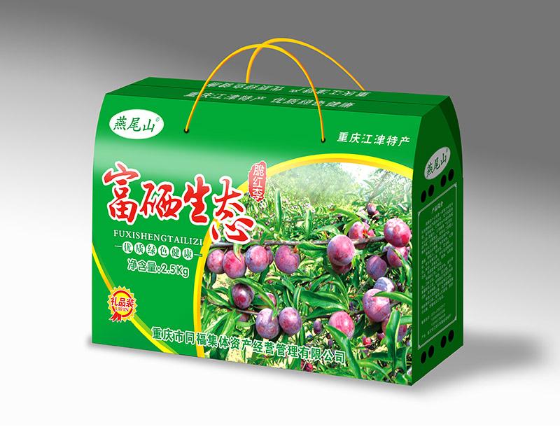 燕尾山富硒水果李子5斤缩小头礼盒效果图